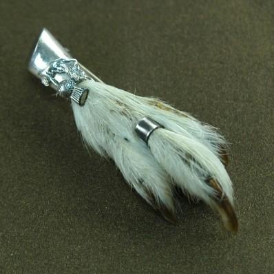 Брошь «Лапка шотландской куропатки в серебре»