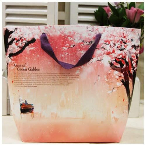 Подарочный пакет розовый