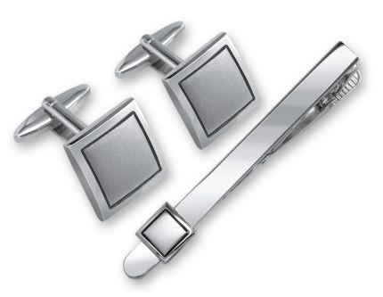 Набор S.Quire: заколка для галстука и запонки
