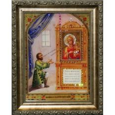 Икона Божией Матери Нечаянная радость Swarovski