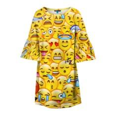 Детское платье с 3D-рисунком Emoji