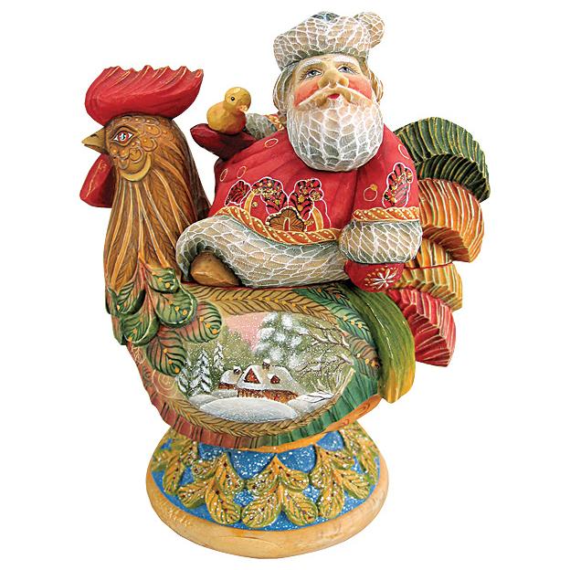 Шкатулка Дед Мороз «День в деревне»