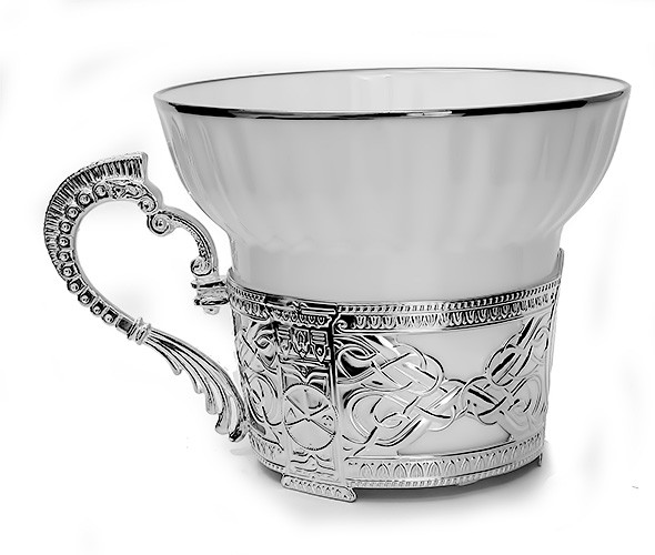 Серебряная чайная чашка Константин Великий