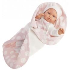 Звуковая кукла-младенец Марселина в розовом