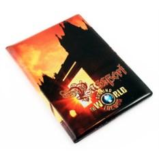 Обложка на паспорт Лондон оранжевого цвета
