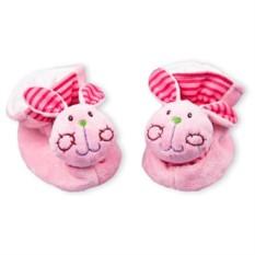Тапочки-погреиушки для новорожденных Зайчатки