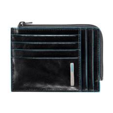 Черный чехол для кредитных карт Piquadro Blue Square