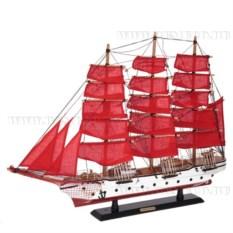 Корабль Confection с алыми парусами, длина 80см