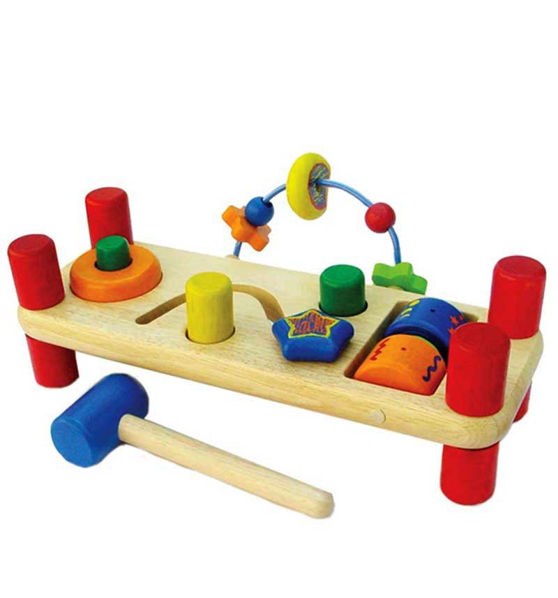 Развивающая скамейка I'm Toy Деревянная