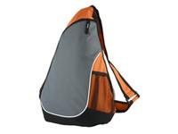 Рюкзак на одно плечо с 1 отделением и 2 сетчатыми карманами, оранжевый
