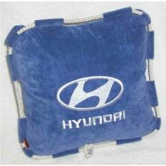 Синяя со шнурком подушка Hyundai