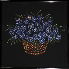 Картина с кристаллами Swarovski Корзина с цветами