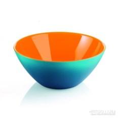 Салатница My fusion оранжево-голубого цвета