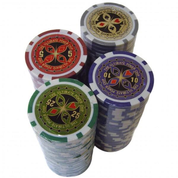Набор для покера на 200 фишек в алюминиевом кейсе