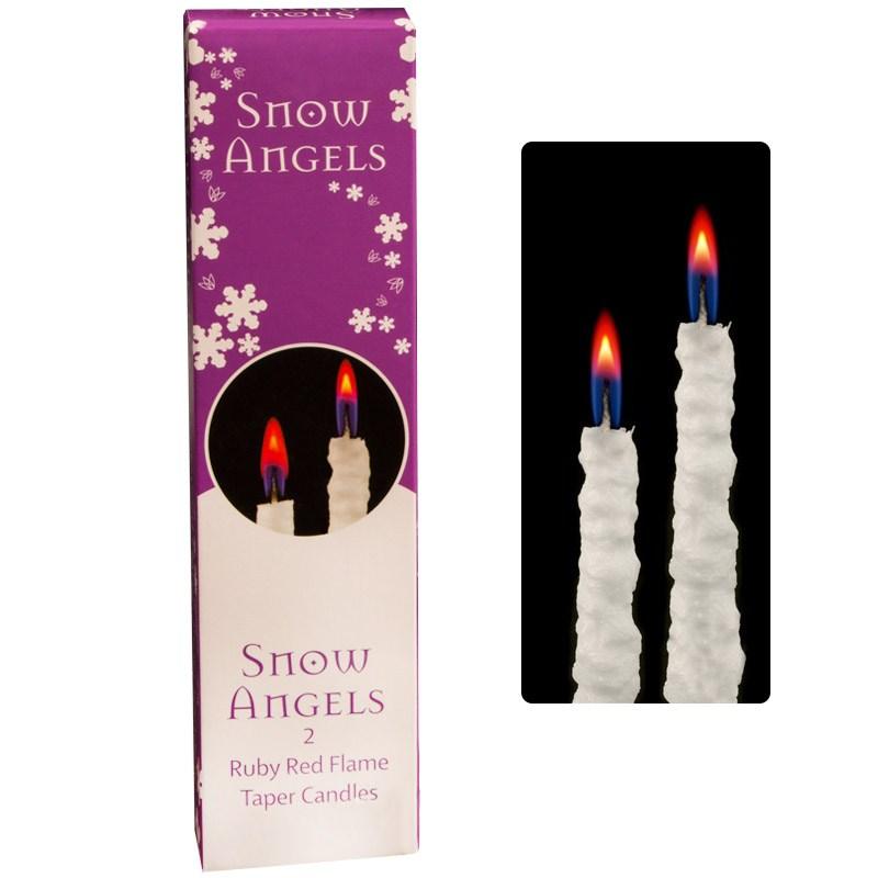 Свечи Снежная сказка, красное пламя