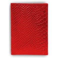 Кожаная красная обложка для автодокументов
