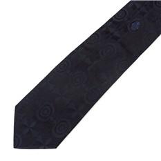 Темно-синий мужской галстук Emilio Pucci
