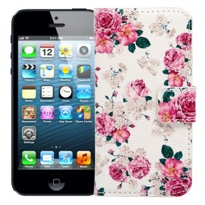 Чехол-книжка для iPhone 5/5s English rose