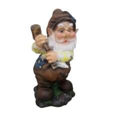 Декоративная садовая фигура Гном с молотком