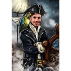 Портрет по фото в стиле Пират