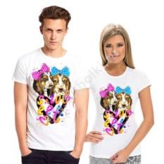 Парные футболки с собачками Sweet