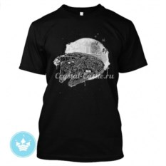 Мужская футболка с рисунком Millenium Falcon