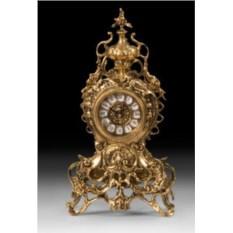 Оригинальные часы из бронзы с кубком