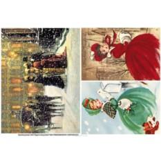 Рисовая бумага для декупажа Рождество