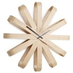 Деревянные настенные часы Ribbon