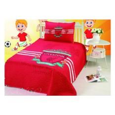 Детское красное 1.5-спальное покрывало
