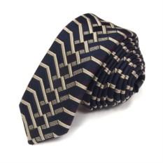 Темно-синий галстук со светлой вышивкой Christian Lacroix