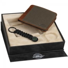 Подарочный набор: брелок-компас и портмоне