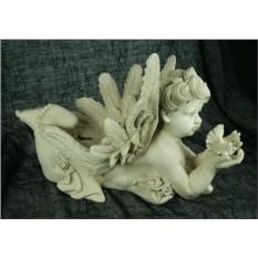 Ландшафтная фигурка Ангел с птичкой