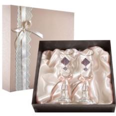 Набор свадебных бокалов Ретро №17 в подарочной коробке