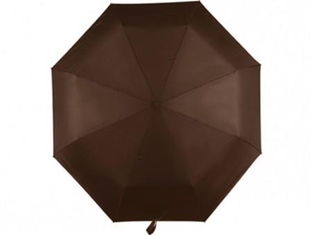Коричневый складной автоматический зонт