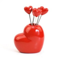 Пики для канапе Сердца