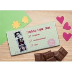 Шоколадная открытка Комплименты