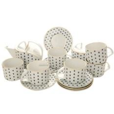 Чайный сервиз Кобальтовое кракле (6 персон14 предметов)