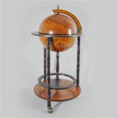 Напольный глобус-бар с полкой