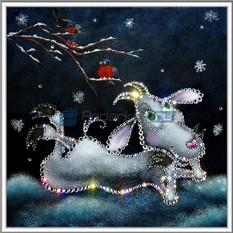 Картина с кристаллами Swarovski В ожидании Нового Года