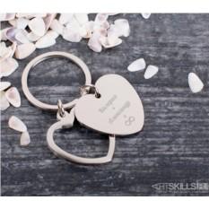 Брелок Сердце с гравировкой