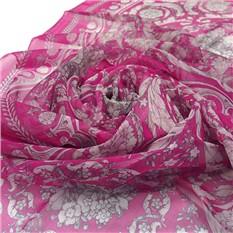 Светло-сиреневый шарфик с красивым орнаментом Versace