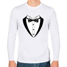 Мужская футболка с длинным рукавом Смокинг с бабочкой