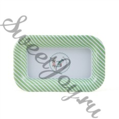 Металлическая тарелка Pony Mint-Green