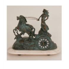 Часы-фигура из бронзы Virtus