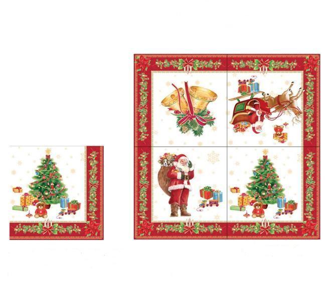 Бумажные салфетки С Новым годом