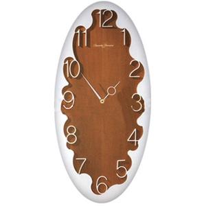 Часы настенные, вишня с алюминием