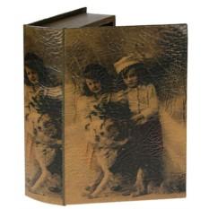 Набор из 2 шкатулок-фолиантов Дети с собачкой