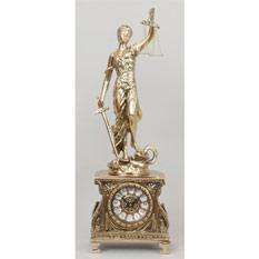 Часы-фигура из бронзы «Правосудие» Virtus