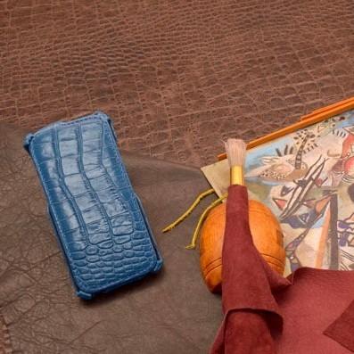 Синий кожаный чехол для iPhone 6S/6 Abilita